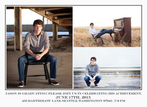 Share the big day with this 5x7 Graduation Announcement and Party invite.  Want a PRINTABLE instead of a template? Just purchase this listing and our customization described below!  TEMPLATE FEATURES • 2 5x7 PSD files (plus .25 bleed area) @ 300 ppi • Print at your favorite print shop or at home  TEMPLATE DETAILS • Fully layered Photoshop PSD files • Easy to customize ALL colors and text • CLIPPING MASKS make it easy to place your images • FREE FONT download links included in instructions •…