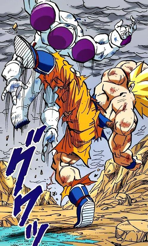 Super Saiyan Goku vs True form Freeza