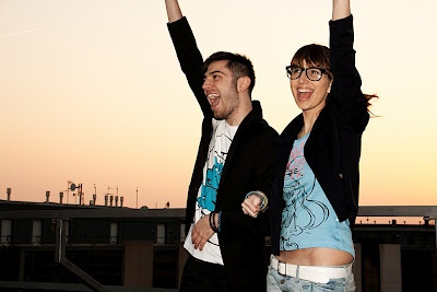 On the roof is so much fun!! Fashion blogger style! the Smurfs t-shirt by Alcott