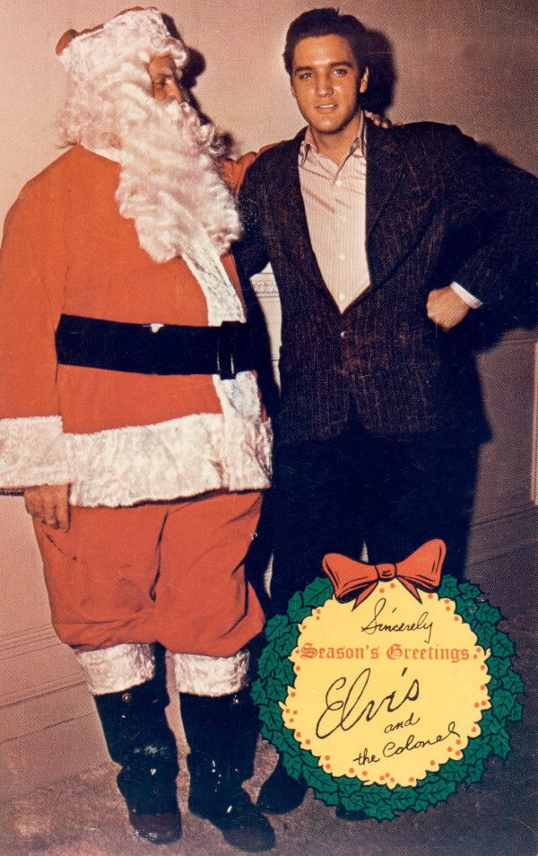 """""""Season's Greetings from Elvis [Presley] and The Colonel [Tom Parker],"""" Christmas Card, 1965"""