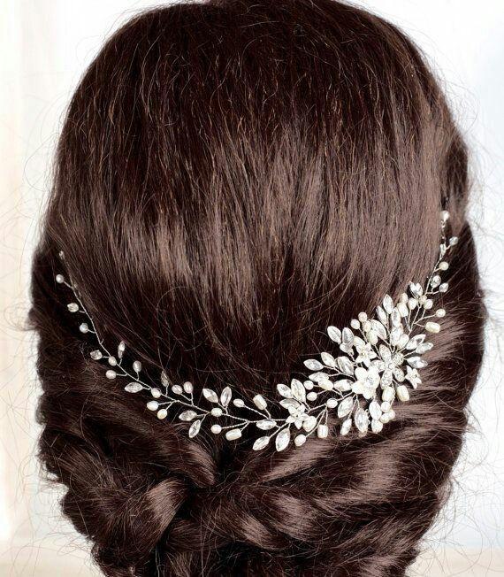 accessoires cheveux coiffure mariage chignon mariée bohème romantique retro, BIJOUX MARIAGE (160)