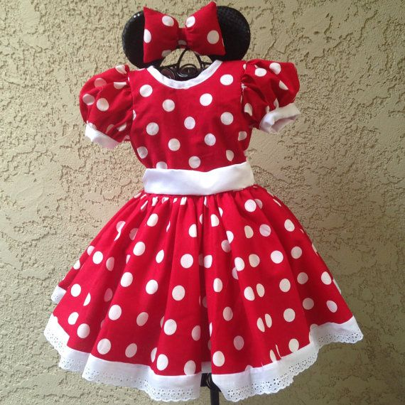 Vestido de lunares rojos Minnie mouse inspirado por KarisaCreations