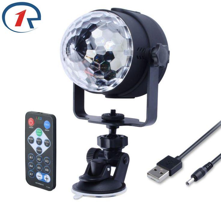 Zjright ir remote rgb led kristal sihir rotating bola tahap cahaya 4 m USB 5 V Colorful ktv DJ Efek cahaya disco Party cahaya cahaya