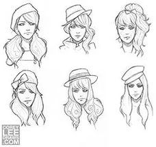 Hair on Pinterest Drawing hair, How to draw hair and Sketches.