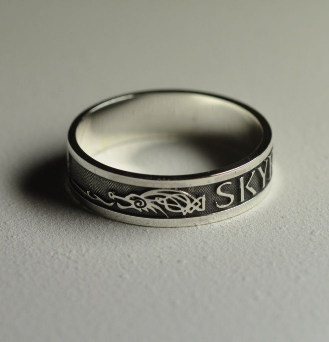 Skyrim ring, by Worldofjewelcraft on deviantART ~ This entire blog is awesome.