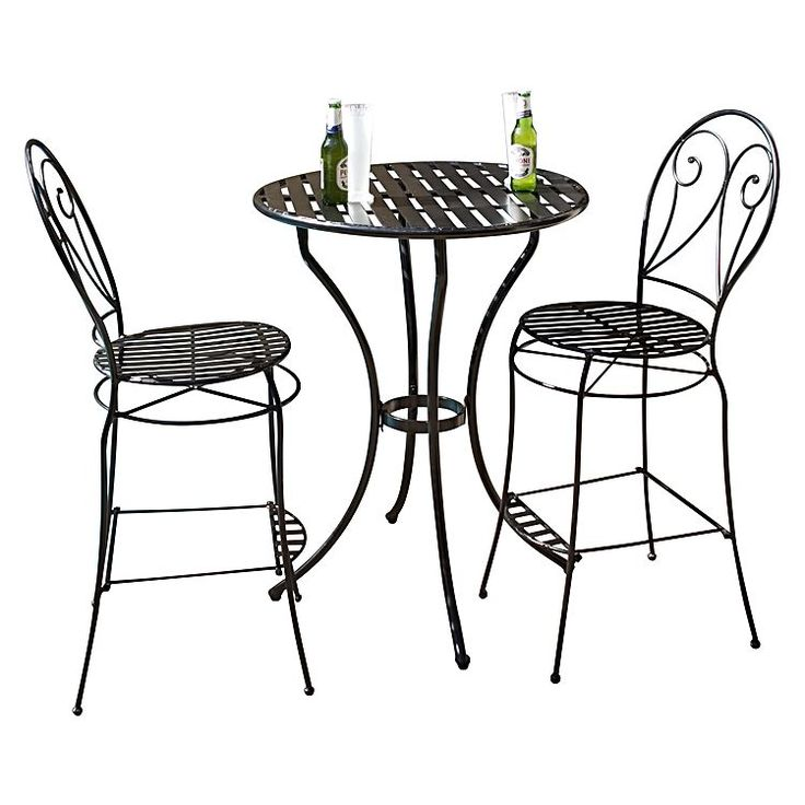 Instil a laid-back summer feel into any area of your outdoor entertaining area with the Brighton 3-Piece Bar Set from Channel Enterprises, its space-conscious design perfect for the balcony or pool deck.