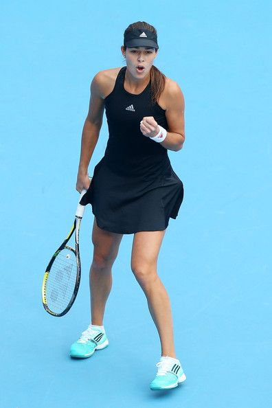Ana Ivanovic Photos Photos - Ana Ivanovic of Serbia celebrates winning a point in her match against Sabine Lisicki of Germany during day six of of the China Open at the National Tennis Center on October 2, 2014 in Beijing, China. - China Open: Day 6