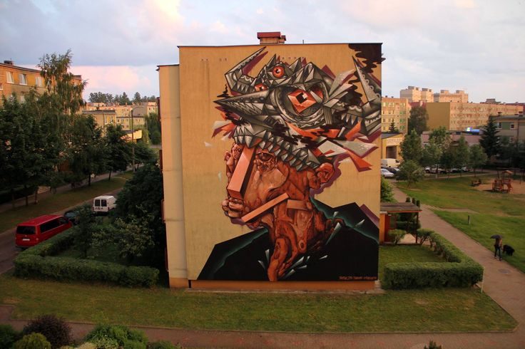 by Base23 + Tobias Kröger - New mural for Bialystok Festival 2014 - Poland - Aug 2014 - Vimeo: http://vimeo.com/97949397