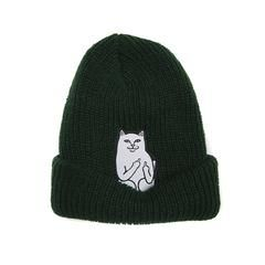 LORD NERMAL would rather be at home Playing with my dogs Fuck you humans RIBBED BEANIE Ships Worldwide