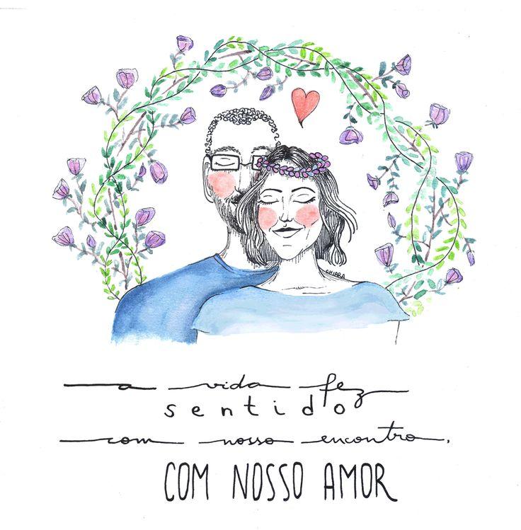 animation gif boy men couple love girl woman wedding flowers illustration watercolor