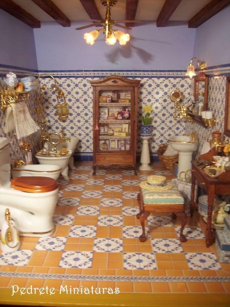 518 migliori immagini casa di bambola stanzette da bagno su pinterest case in miniatura - Bagno in miniatura ...