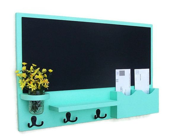Hey, I found this really awesome Etsy listing at https://www.etsy.com/listing/128732173/mail-organizer-chalkboard-mail-organizer
