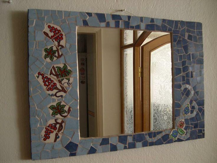 Seramik mozaikten ayna çalışmam.
