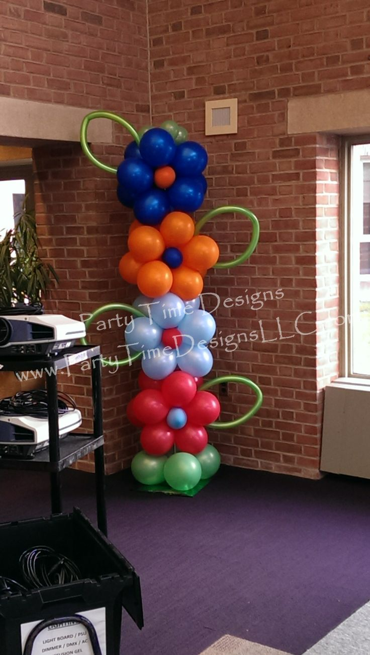 how to make flower balloon tower