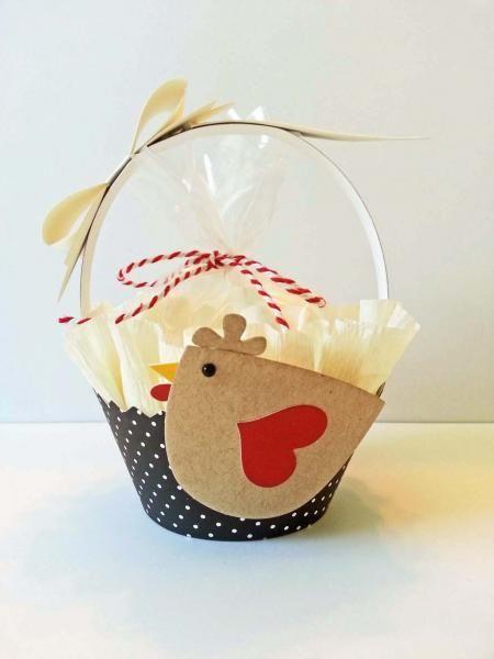 Cupcake Wrapper Die Basket by Risa - Cards and Paper Crafts at Splitcoaststampers