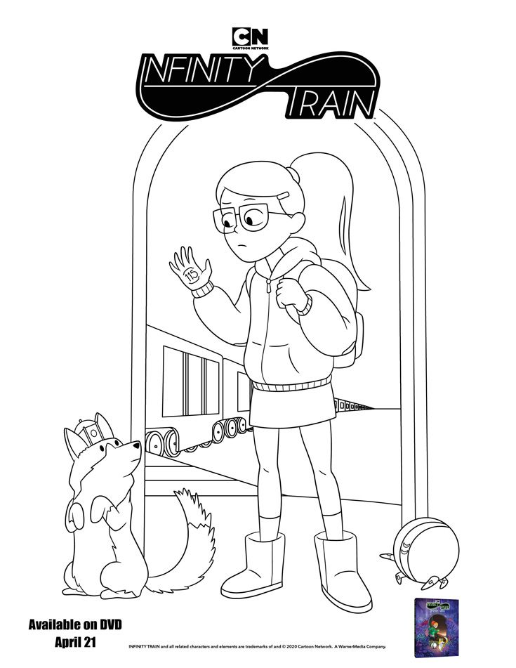 Free Printable Infinity Train Book One Coloring Page Mom S Blog Coloring Pages Coloring Books Train Coloring Pages