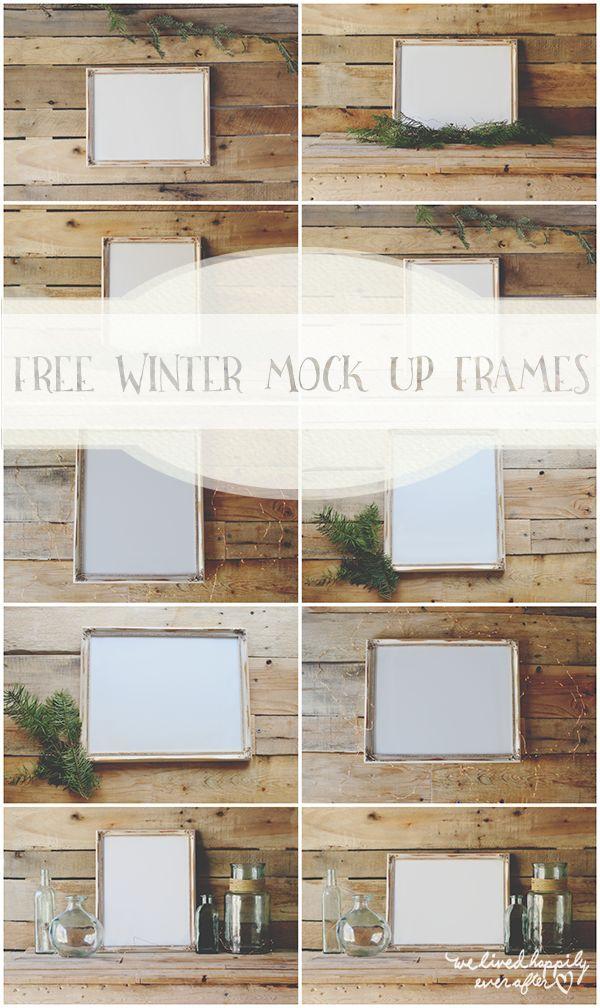 Free Version: Winter Mock Up Frames