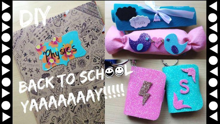 DIY Back To School Supplies | Mini book key chain | NO SEW Make-up bag |...