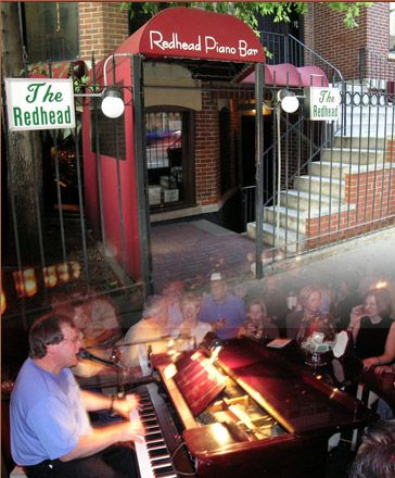 Red Head Piano Bar, Chicago.  Excellent for people watching...