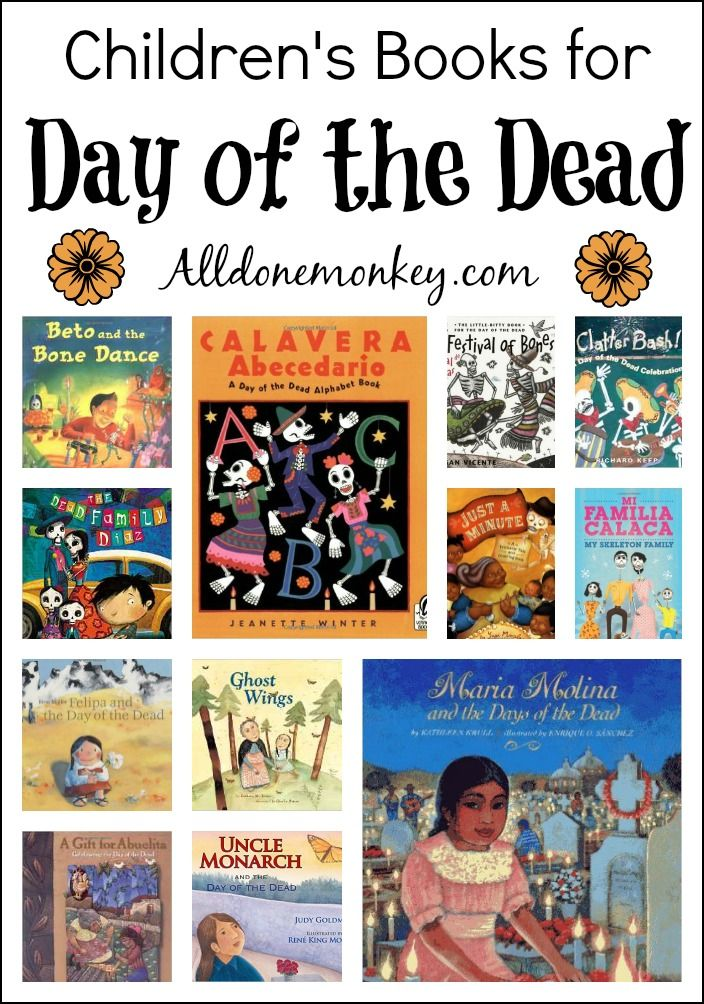 Children's books for Day of the Dead: from informational, to skeleton fun, to those that focus on helping children deal with the passing of loved ones.