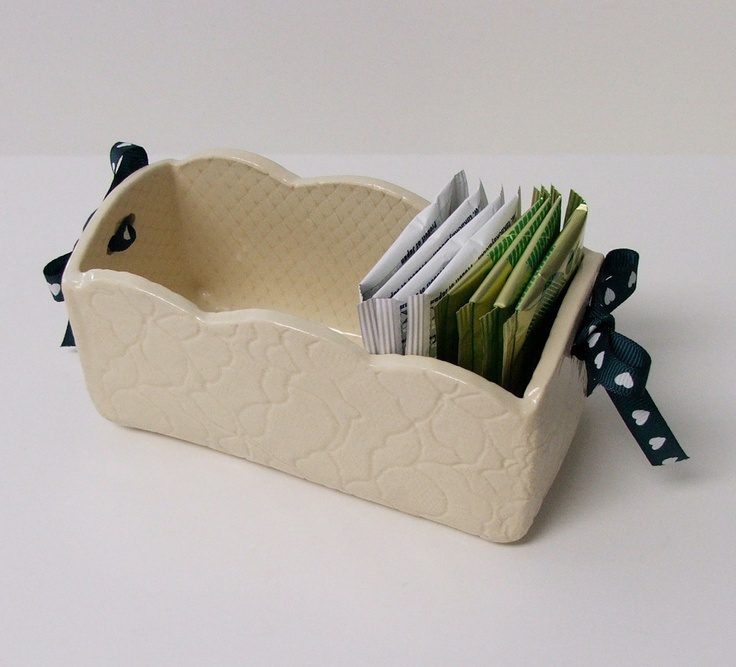 Slab Built, Handmade Ceramic  White Stoneware Box.
