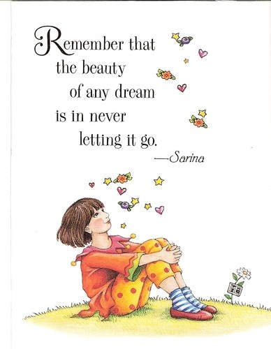 Beauty of Any Dream Is in Never Letting It Go Fridge Magnet Mary Engelbreit Art