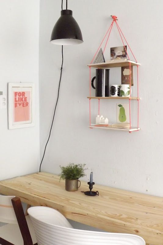 #Diy #project #rope #shelf #furniture