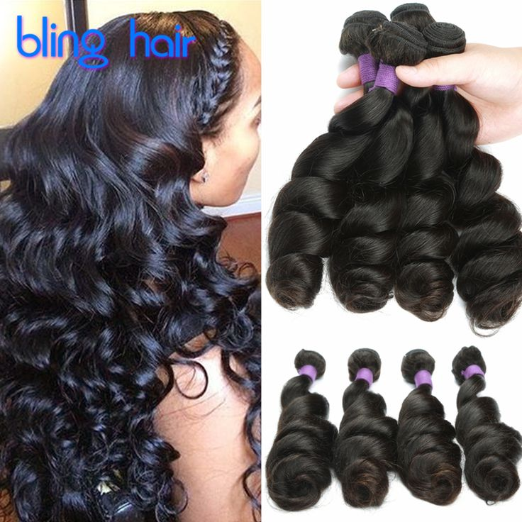 10A Grade Virgin Unprocessed Loose Curl Human Hair Weave Cambodian Curly Hair Queen Hair Products Cambodian Loose Wave 4 Bundles