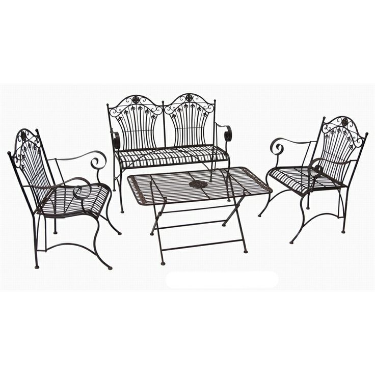 Find This Pin And More On Outdoor Settings Marquee 4 Piece Rustic Iron