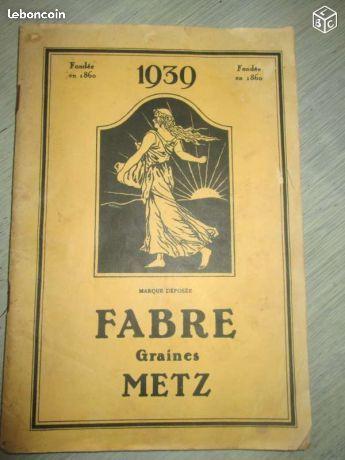 Ancien catalogue FABRE GRAINES METZ (1939)
