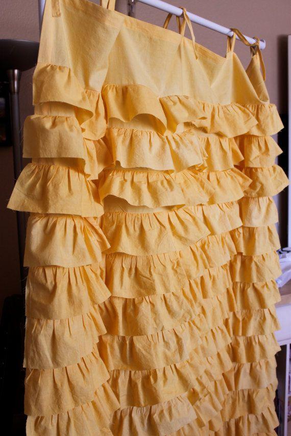 You are my sunshineYellow Waterfall Curtain by SelahJamesHandmade, $85.00: Diy Ideas, Waterfall Curtain, Ruffle Ruffles, Ruffled Waterfall, 85 00, Yellow Ruffled, Bedroom Curtains, Ruffle Curtains, Sunshineyellow Waterfall