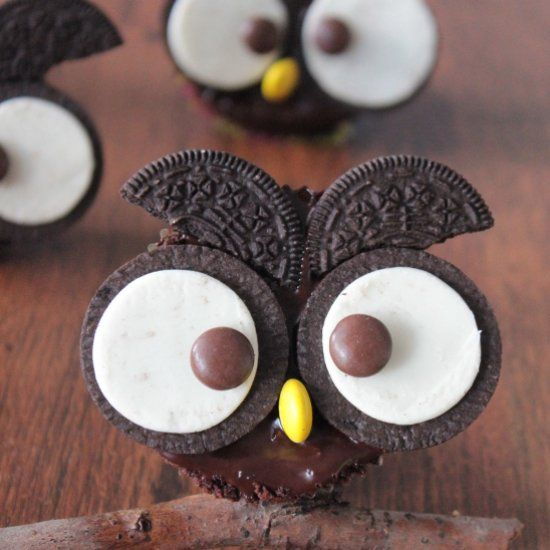 Owl muffins (in Polish)