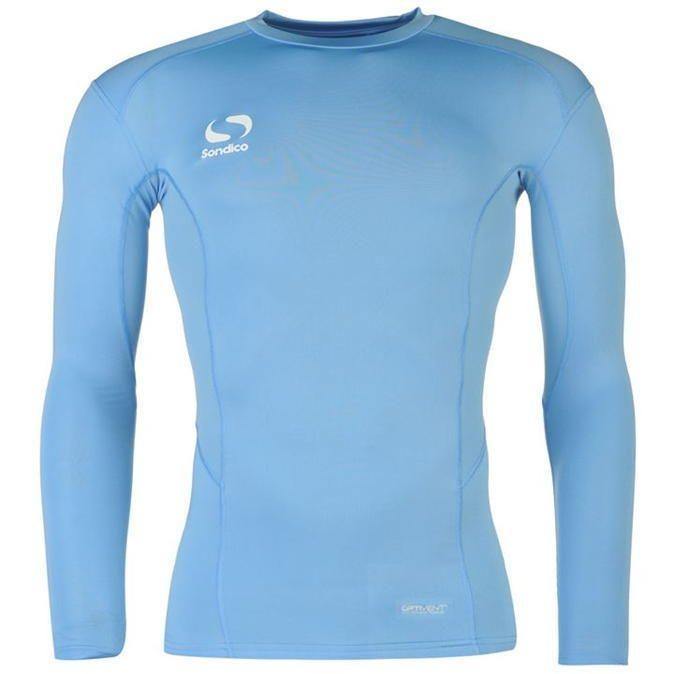 Sondico Base Layer Top Long Sleeve Mock Compression Fit Sports Sweatshirt