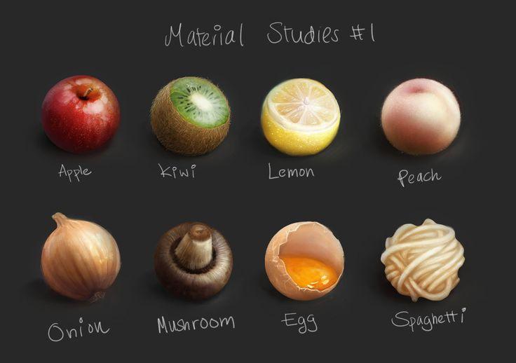 ArtStation - Material Studies #1, Swasti DW