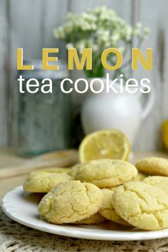 Delicious lemon tea cookies that are perfect for your next tea party or if you're just looking for a refreshing treat to bake.  Made with real lemons, these are a real crowd pleaser!  Make them today!