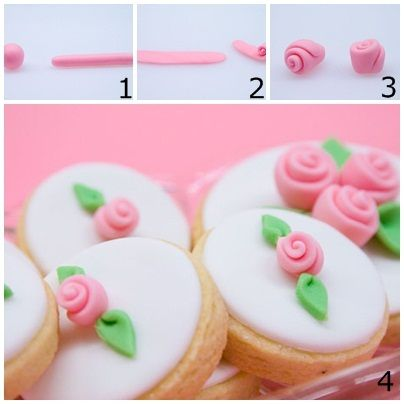 Comment faire une simple rose en pate a sucre