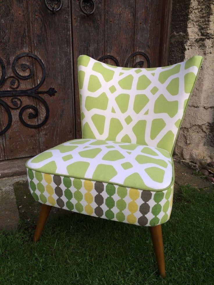 atomic 50 s retro midcentury modern cocktail chair romo fabric