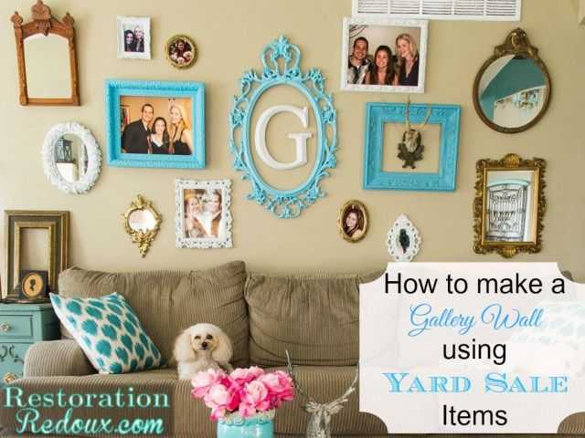 How to Make a Gallery Wall Using Yard Sale Items