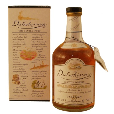 Delwhinnie 15 year Scotch Wiskey. - Not one of my favorites, but it wasn't terrible.