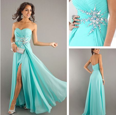 Turquoise long bridesmaid dress - My wedding ideas