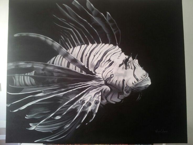 Lionfish, acrílico by santidrián