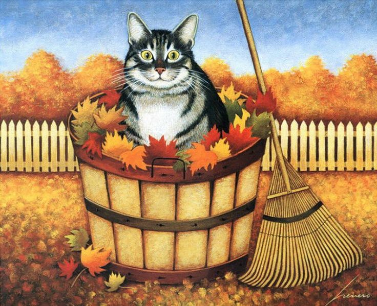 Image result for autumn cats wallpaper