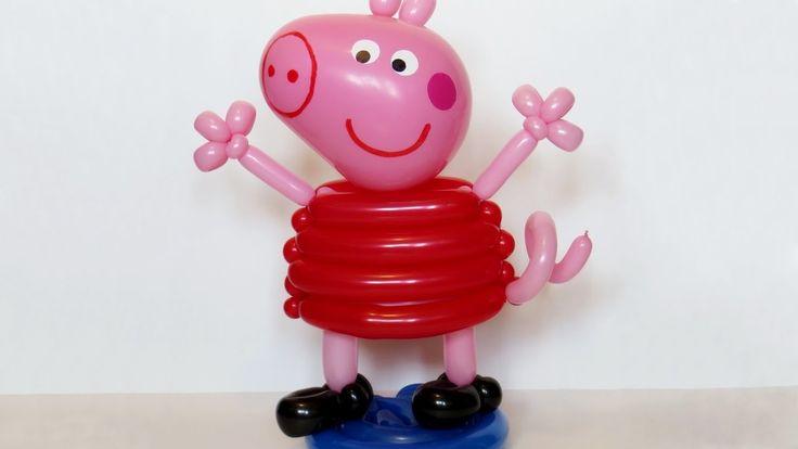 Свинка Пеппа из шаров (тело) / Peppa pig of balloons (body)