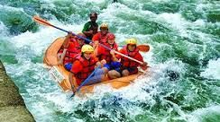 Rafting In Binge River, north sumatra, indonesia