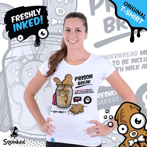 Prison Break... *Original Squinked T-shirt for Women. *Tricou Original Squinked pentru Femei.