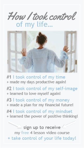 This FREE course is a MUST for anyone wanting to take control of their life! | motherhood | life hacks for moms | free course | budgeting help | inspirational living | how to beat depression | how to get my life together | time management | self-care tips | budget | positive living | budgeting for beginners | free budgeting | stress | how to | relief | where to start | mom life | success | affirmations | health
