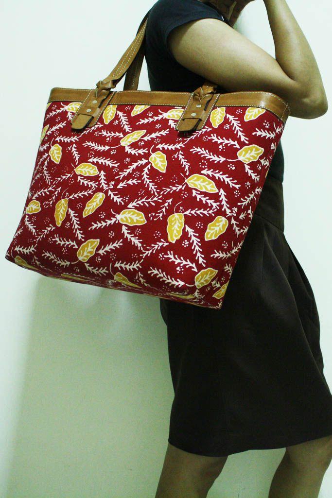Anjani Red Tasikmalaya Tote - Djokdja Batik & Handicraft