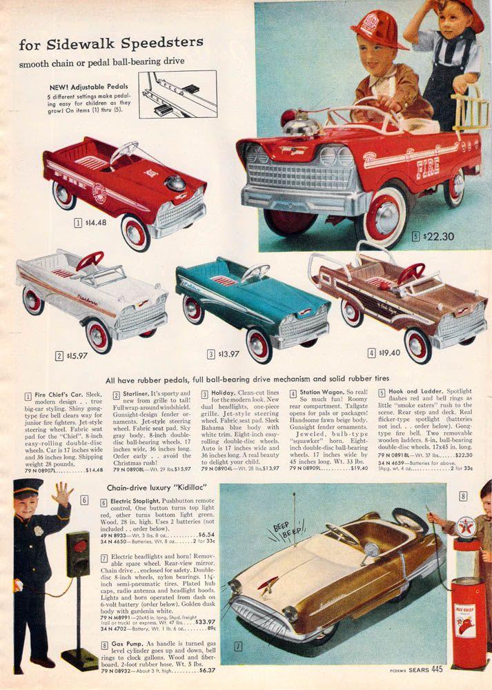 Sidewalk Speedsters 1959 Sears Christmas Book Page445