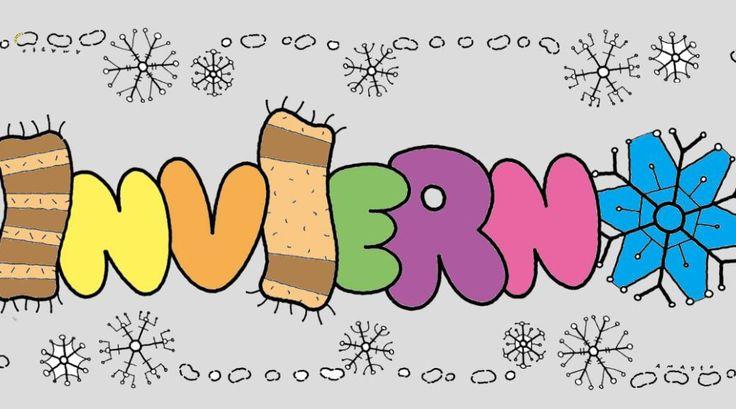 Carteles para decorar y explicar la estación del invierno Recursos para el aula: Carteles de Invierno  Elinviernoes una de