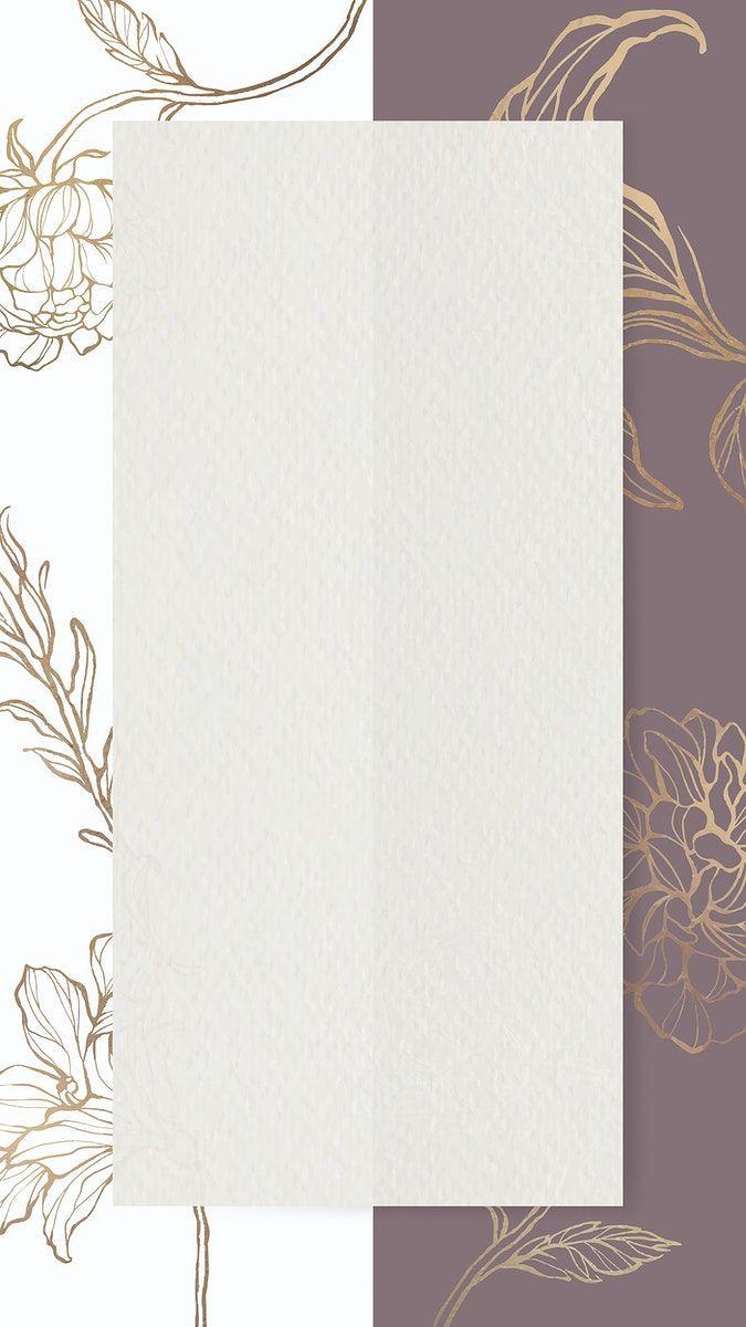 Download Premium Vector Of Rectangle Paper On Floral Outline Background Flower Frame Picture Design Pink Glitter Background